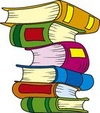 Books. Vector illustration of six books in stack stock illustration