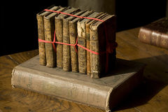 Books. Ancient the books an interior royalty free stock images