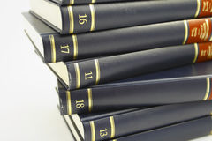Books. On the white background Royalty Free Stock Photo
