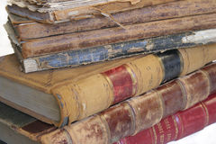 Books. Pile of old public record books from early 1900, on white royalty free stock photos