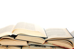 Books. Old books over white background royalty free stock photography