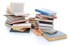 Books. Pile of Various Books on White Background Royalty Free Stock Images