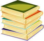 Books. Illustration of a books on a white background Stock Photo