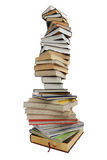 Books. Stack of different books on a white background Stock Images