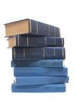 Books. Books, cover cyan and blue on a white background Stock Image
