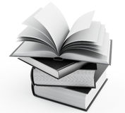 Books. 3d illustration on white background Royalty Free Stock Photography