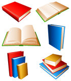 Books. Collection of books with color covers Stock Photo