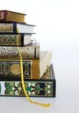 Books. Islamic books in a cutted and isolated image Stock Photos