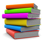 Books. 3d illustration of colorful books stack over white background Royalty Free Stock Photography