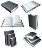 Books. Collection of books with black covers Royalty Free Stock Image
