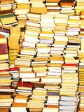 Books only. Stacked books after moving - for sale Stock Photos