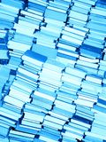 Books only. Stacked books after moving - for sale. Blue tone Royalty Free Stock Photos