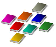 Books. Illustration of books in different colors. 3D books Royalty Free Stock Photo