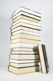 Books. This image shows several books stacked and supported on the stack Royalty Free Stock Images