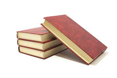 Books. In red cover are isolated on white Stock Photography