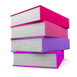 Books. 3D image of colorful books isolated on white background Royalty Free Stock Images