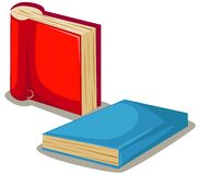 Books. Illustration of isolated colorful books on white background vector illustration