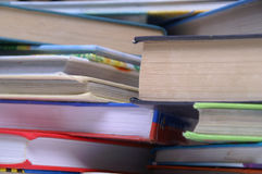 The books. The few color books on the table Stock Image