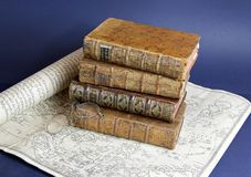 Books of 18 century Stock Image