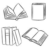 Books. A set of sketches of books Stock Image