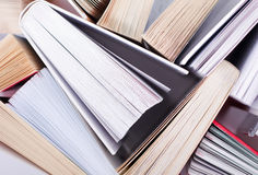 Books. Stack of books, view from above Royalty Free Stock Photos