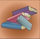 Books. Illustration on white background Royalty Free Stock Photography