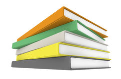 Books. A pile of Books, perspective view Royalty Free Stock Photo