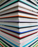 Books. A stack of colored books Stock Photo
