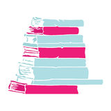 Books. Simple book stack silhouette, vector Royalty Free Stock Images
