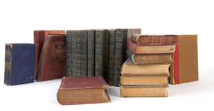 Books. Antique books, isolated on a white background royalty free stock image