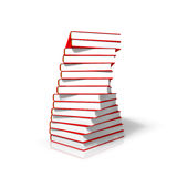 Books. A stack of books - 3d render Royalty Free Stock Photo