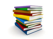 Books. 3d render of a pile of books Stock Images