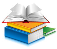 Books. Of different colors on white background Stock Photo