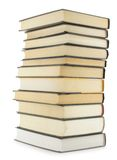Books. Hardcover books isolated over white background stock photography