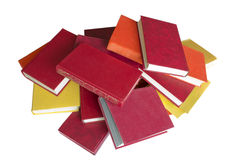 Books. Pile of books of red and yellow Isolated on white background Royalty Free Stock Photo