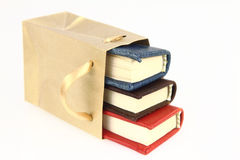 Books. In a paper bag Stock Image