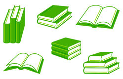 Books. Collection of simple images of books vector illustration