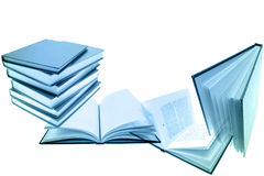 Books. On plain background. Copy space Stock Photo