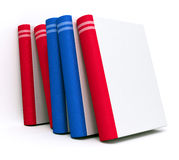 Books. Red and blue books with blank cover Stock Photo
