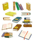 Books. Collection of different books for different purposes Vector Illustration