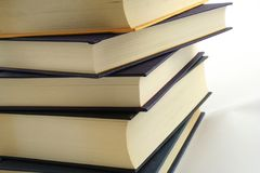 Books. Stack of books against a white background stock photo