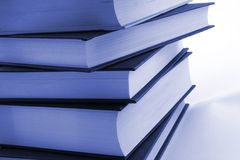 Books. Stack of books against a white background stock images