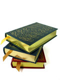 Books. A stack of leather bound hardcover books Royalty Free Stock Images