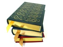 Books. A stack of leather bound hardcover books Stock Images