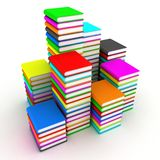 Books. Illustration of pile of books on a white background Royalty Free Stock Photography