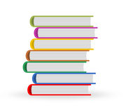 Books. Illustration of stock of books. Literature royalty free illustration