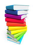 Books. Stack of color books on white background Stock Photo