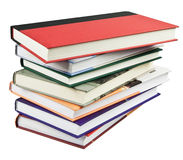 Books. Pile isolated on white Stock Photography