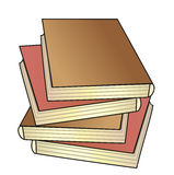 Books. Pile of the books; vector illustration; isolated icon Royalty Free Stock Photography
