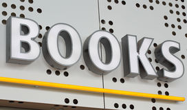 Books. A sign indicating that books are for sale Stock Image